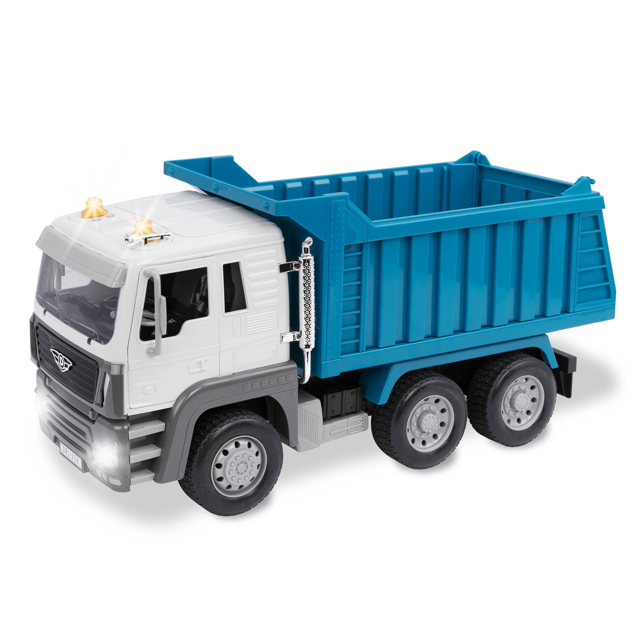 dump truck blue