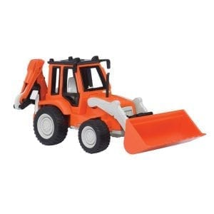 backhoe loader orange
