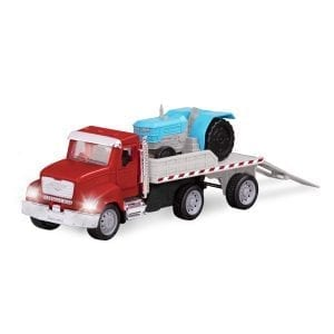 flat bed truck red