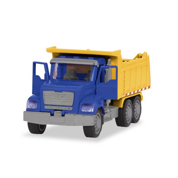 Toy dump truck with doors open.