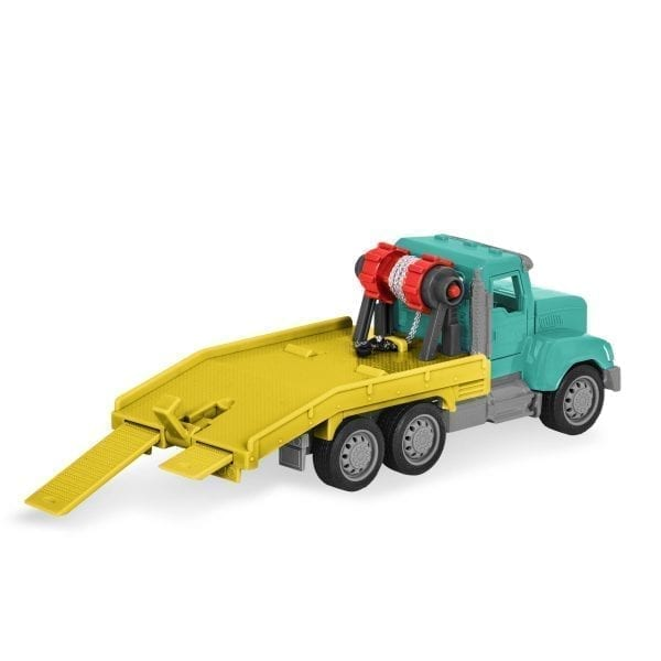 Rear view of toy tow truck.
