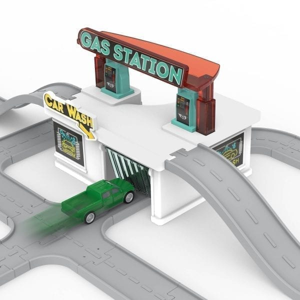 Toy gas station building.