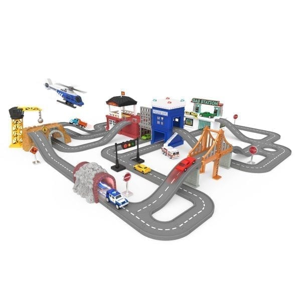 City-themed playset for kids.